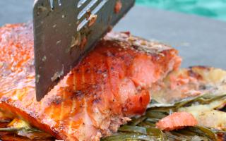 Easy Cedar Plank Salmon Recipe using Famous Salmon Rub